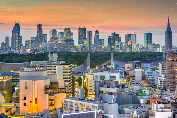 Tokyo, Japan city skyline - Stock Photo - Images