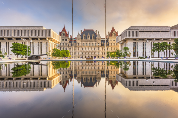Albany, New York, USA at the New York State Capitol. - Stock Photo - Images