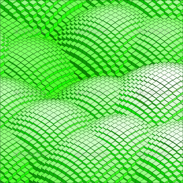 Abstract 3d Vector Background Green Mountains - Backgrounds Decorative