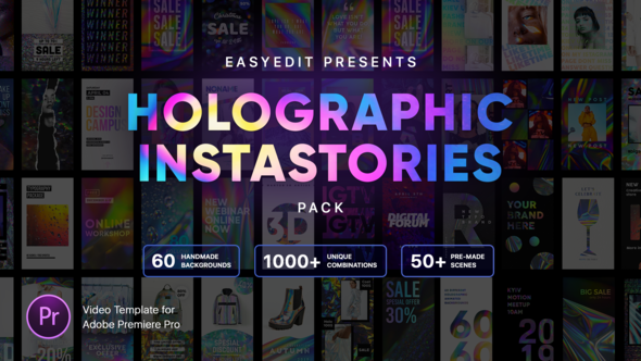 Holographic InstaStories Pack | for Premiere Pro