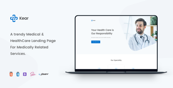 Kear - Medical & Healthcare Landing Page Template by zytheme
