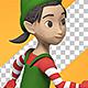Cartoon Happy Elf Girl Dancing - VideoHive Item for Sale