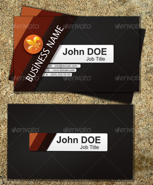 Orange Business Card - Corporate Business Cards