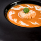 Homemade tomato soup served on dark plate - PhotoDune Item for Sale