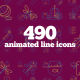 490 Animated Line Icons - VideoHive Item for Sale
