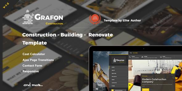 Grafon - Construction  Building Renovate Template