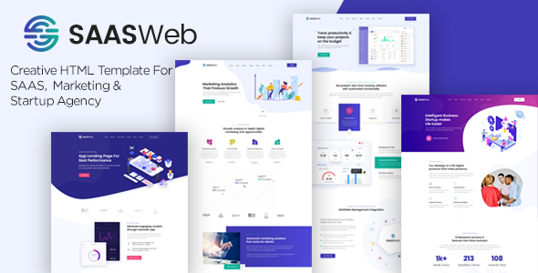 Saasweb - Saas &Startup HTML Template