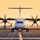 Front view of propeller airplane - PhotoDune Item for Sale