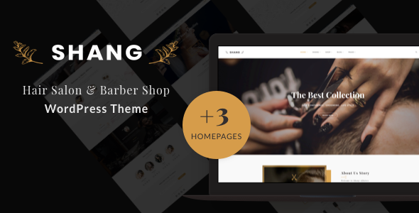 Shang - Hair Salon & Barber Shop WordPress theme