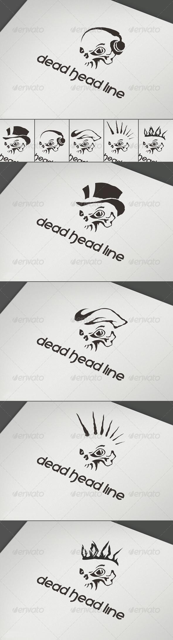 Dead Head Line Logo - Abstract Logo Templates