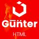 Gunter - Digital Agency Landing Page UIkit Template - ThemeForest Item for Sale