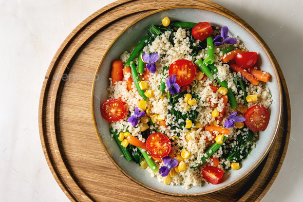 Couscous with vegetables - Stock Photo - Images
