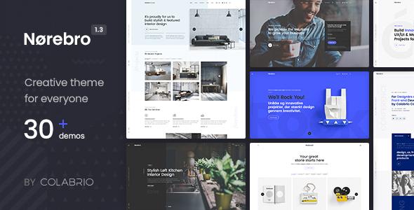 Norebro - Creative Portfolio Theme for Multipurpose Usage Free Download | Nulled