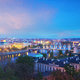 Panoramic view of Prague bridges over Vltava river - PhotoDune Item for Sale