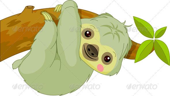 Fun Zoo. Sloth - Animals Characters