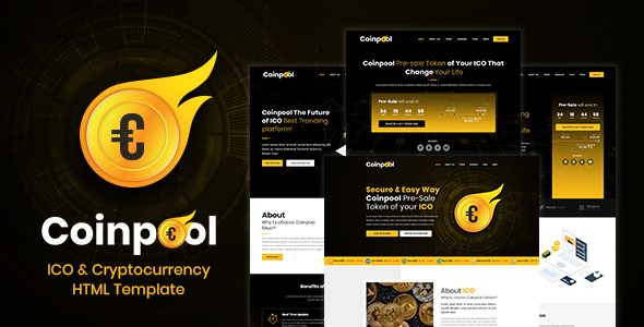 Coinpool - ICO, Bitcoin And Crypto Currency HTML Template