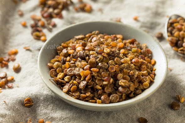 Healthy Homemade Roasted Lentil Snack - Stock Photo - Images