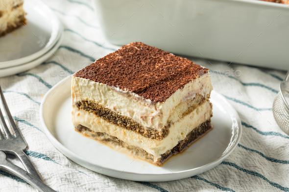 Sweet Homemade Italian Tiramisu Dessert - Stock Photo - Images