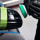 Buffing and polishing car. Car detailing. Man holds a polisher in the hand and polishes the car - PhotoDune Item for Sale