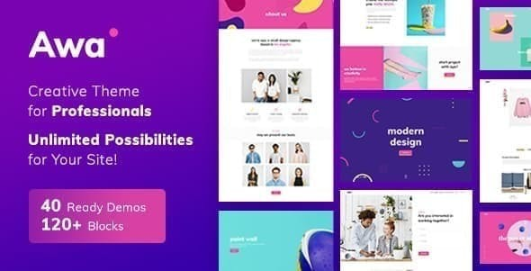 Portfolio AWA – Portfolio  WordPress Portfolio & Agency Free Download
