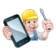 Electrician Handyman Phone Concept - GraphicRiver Item for Sale