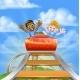 Kids on Roller Coaster - GraphicRiver Item for Sale