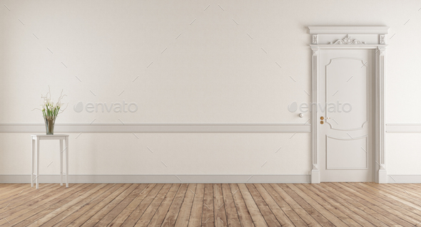 Empty Living Room In Classic Style Stock Photo By