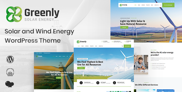 Greenly – Ecology & Green Energy WordPress Theme