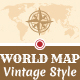 World Map - Vintage Style - GraphicRiver Item for Sale
