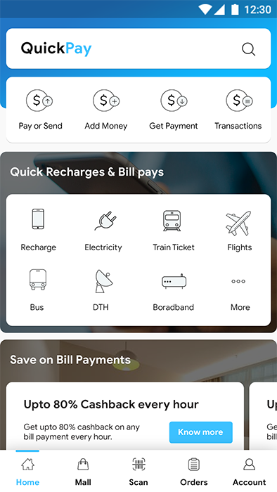 Online Payment, Recharge, Booking & Bill Payment Android + iOS App Template  | HTML + Css IONIC 3