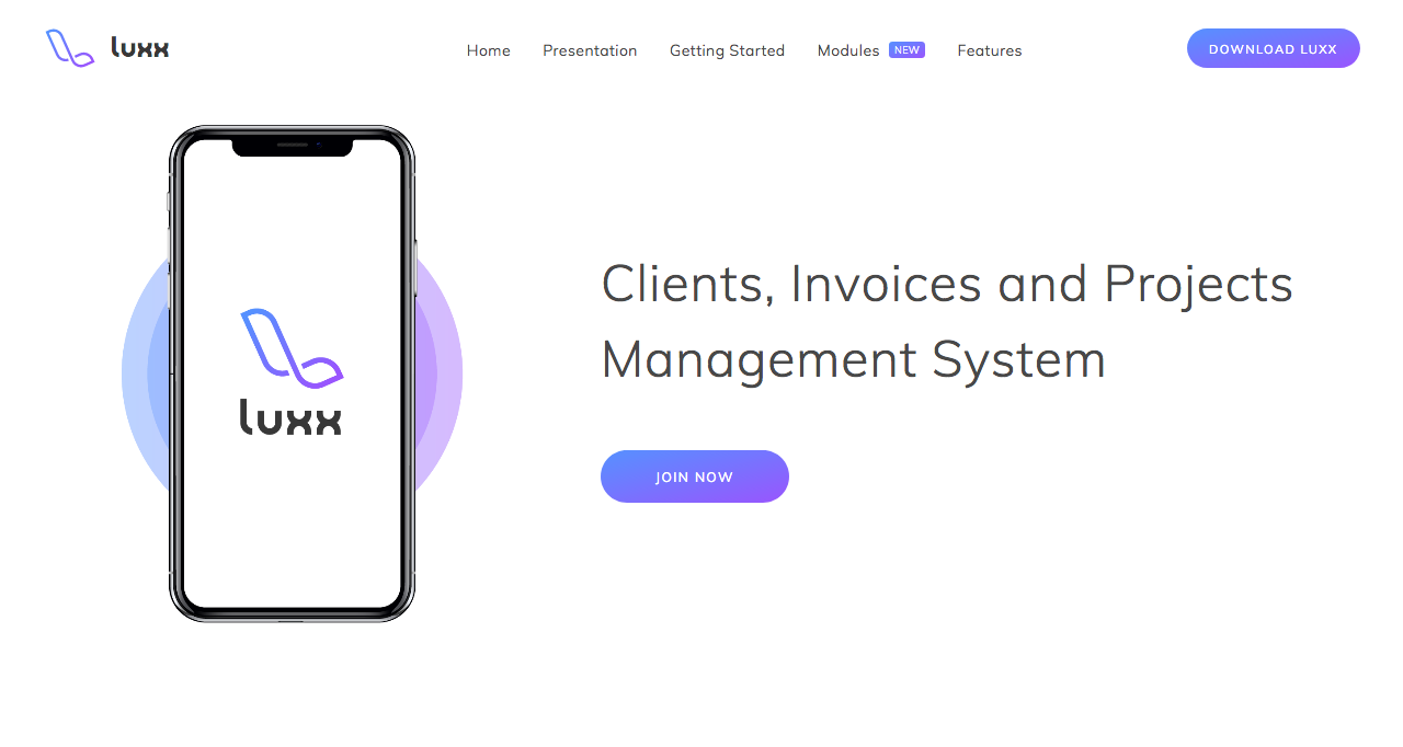 Luxx - Clients, Invoices and Projects Management System