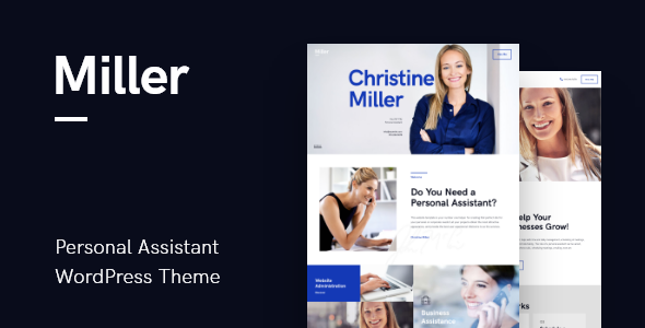 Miller | Personal Assistant & Administrative Services WordPress Theme