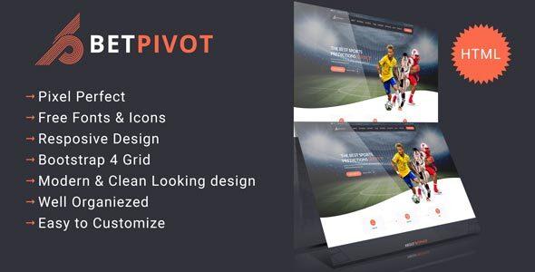 Betpivot - Sports Landing Template