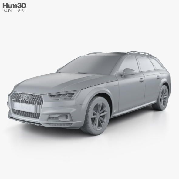 Audi A4 (B9) Allroad with HQ interior 2017