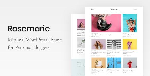 Rosemarie - Personal WordPress Blog Theme