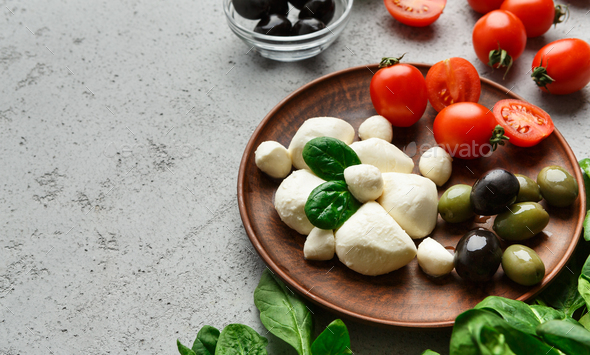 Mediterranean traditional products concept - Stock Photo - Images
