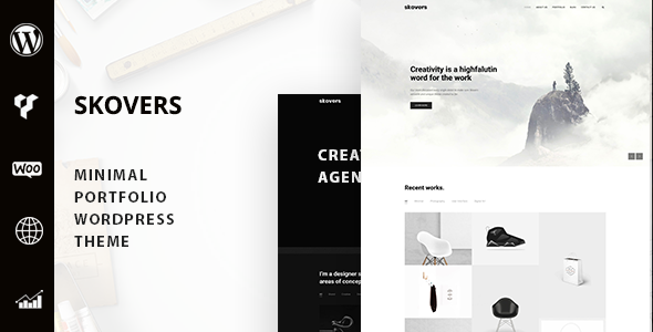 Exceptional Skovers - Minimal Portfolio WordPress Theme