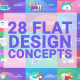 Flat Designs Concepts - VideoHive Item for Sale