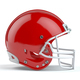 Set of red  american football helmets isolated on white backgrou - PhotoDune Item for Sale