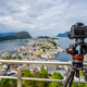 City of Alesund Norway Camera on a tripod on the observation dec - PhotoDune Item for Sale