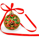 Christmas ball with red ribbon - PhotoDune Item for Sale