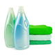 Fabric softener in two bottles and towels - PhotoDune Item for Sale