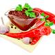 Ajika in a glass gravy boat on a napkin - PhotoDune Item for Sale