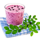 Milkshake with blueberries on a blue napkin - PhotoDune Item for Sale