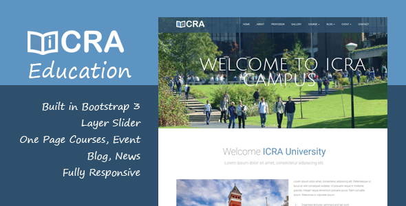Icra - Education Joomla Template