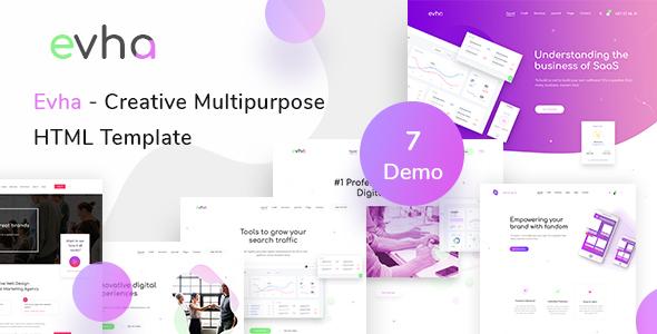 Evha - Creative Multipurpose HTML Template