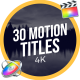 30 Motion Titles | FCPX or Motion - VideoHive Item for Sale