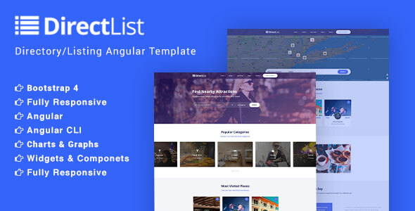 Directlist - Directory and Listing Angular 7 Template