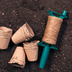 Biodegradable plant pots, jute rope and soil - PhotoDune Item for Sale
