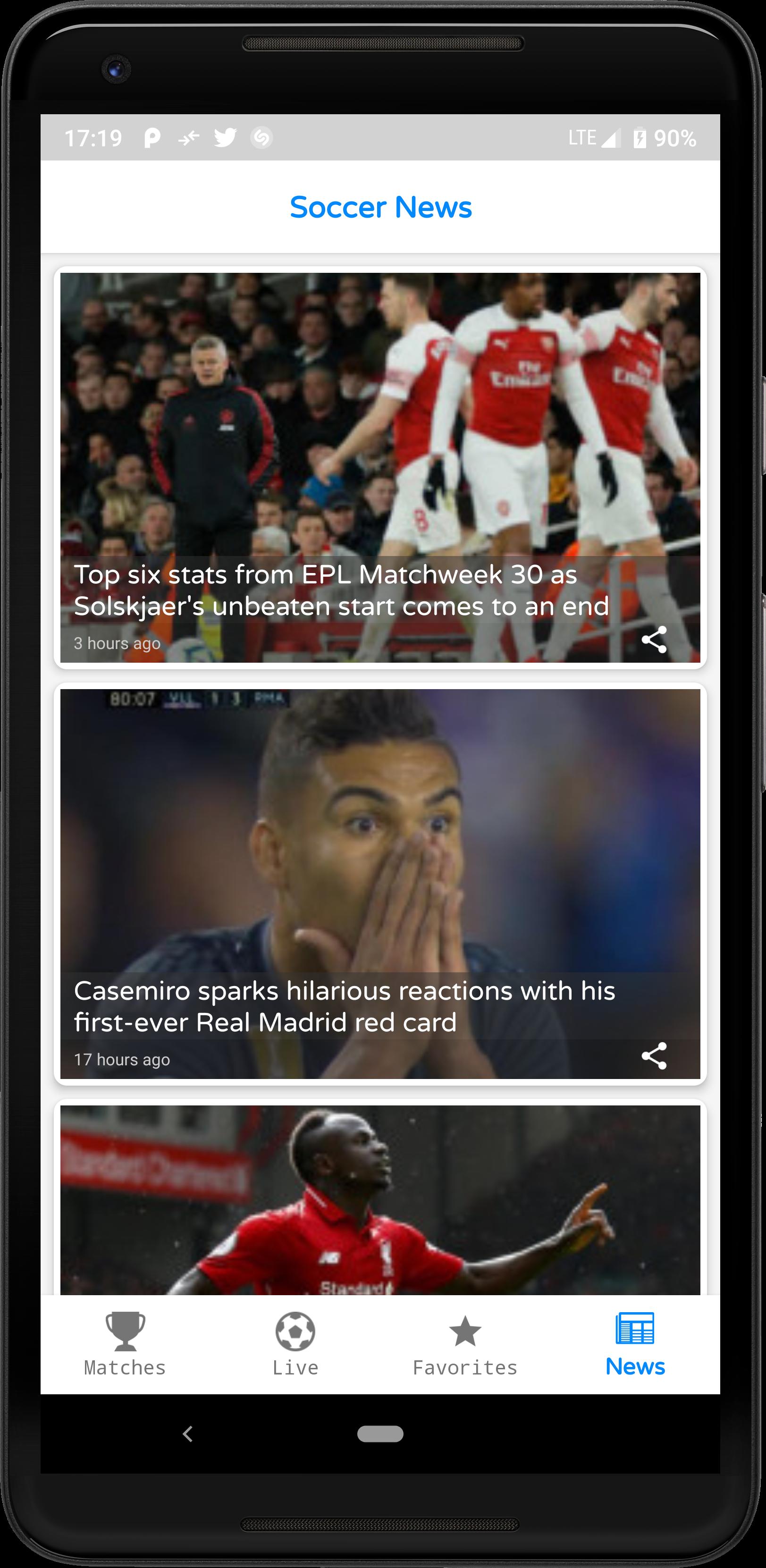 LiveScore - Football Android Full App (Admob)